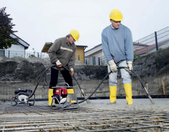 Погружной вибратор для бетона